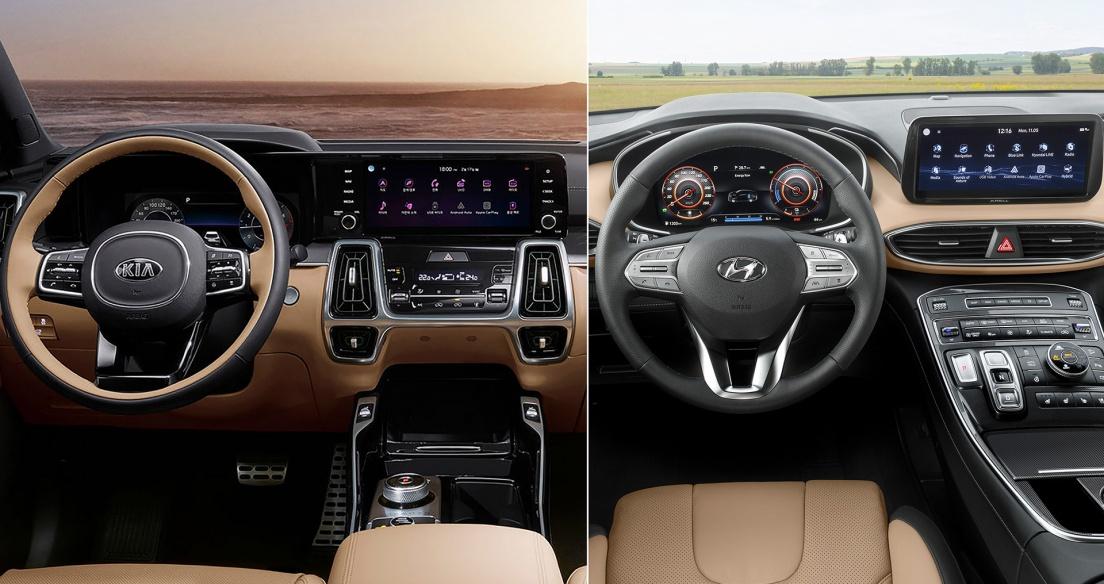 So sánh NỘI THẤT Kia Sorento 2021 và Hyundai SantaFE 2021 - Kẻ 8 lạng người nửa cân