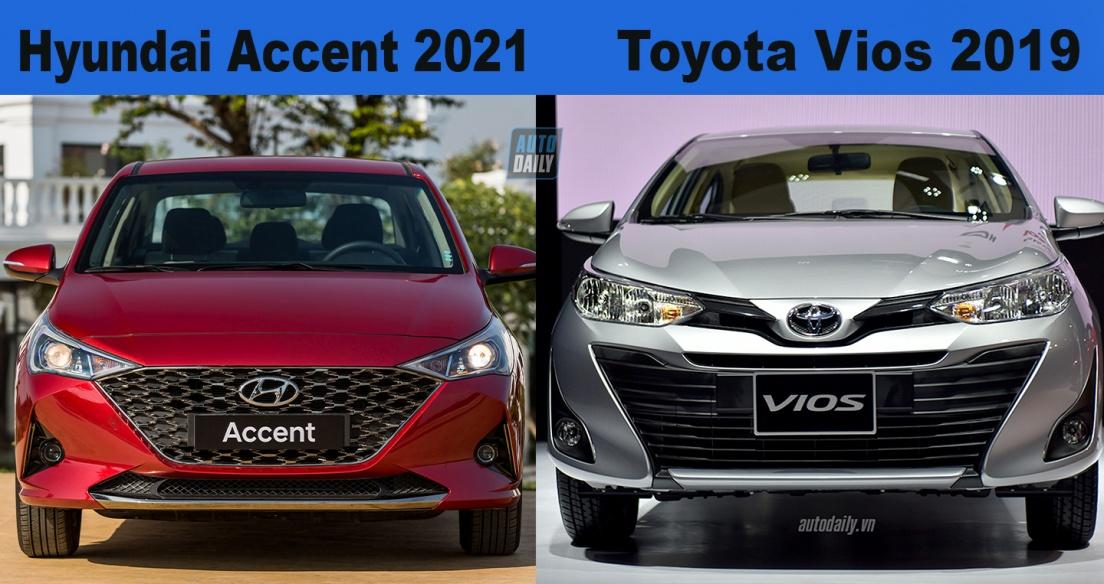 Hơn 500 triệu, chọn Hyundai Accent 2021 hay Toyota Vios?
