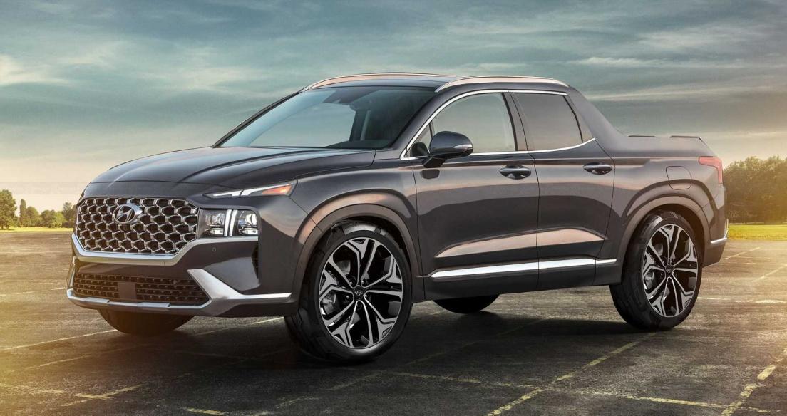 Ảnh phác họa bán tải Hyundai Santa Cruz với thiết kế như Santa Fe