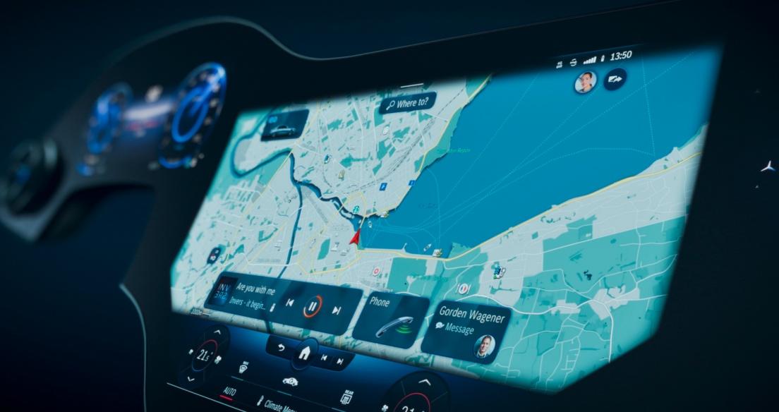 Mercedes giới thiệu hệ thống thông tin giải trí MBUX Hyperscreen với màn hình 56 inch