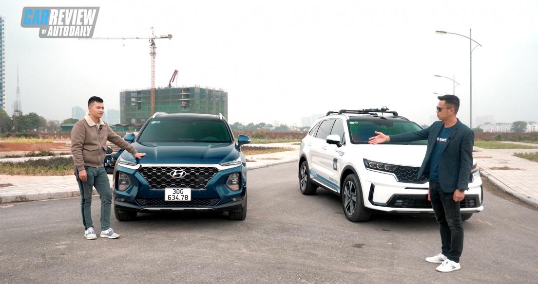 So sánh thực tế Kia Sorento 2021 và Hyundai SantaFe 2019 - Phần 1 - Ngoại thất, động cơ