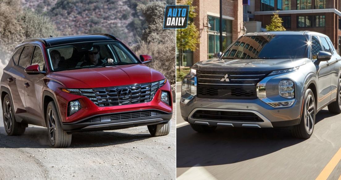 So sánh Mitsubishi Outlander 2022 và Hyundai Tucson 2022 - Xe nào là BOM TẤN khi về VN?