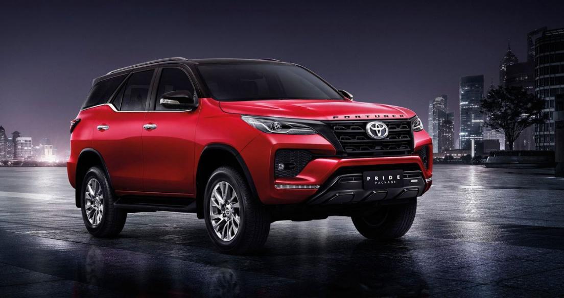 Toyota Fortuner 2021 thể thao hơn với gói trang bị Pride Package II
