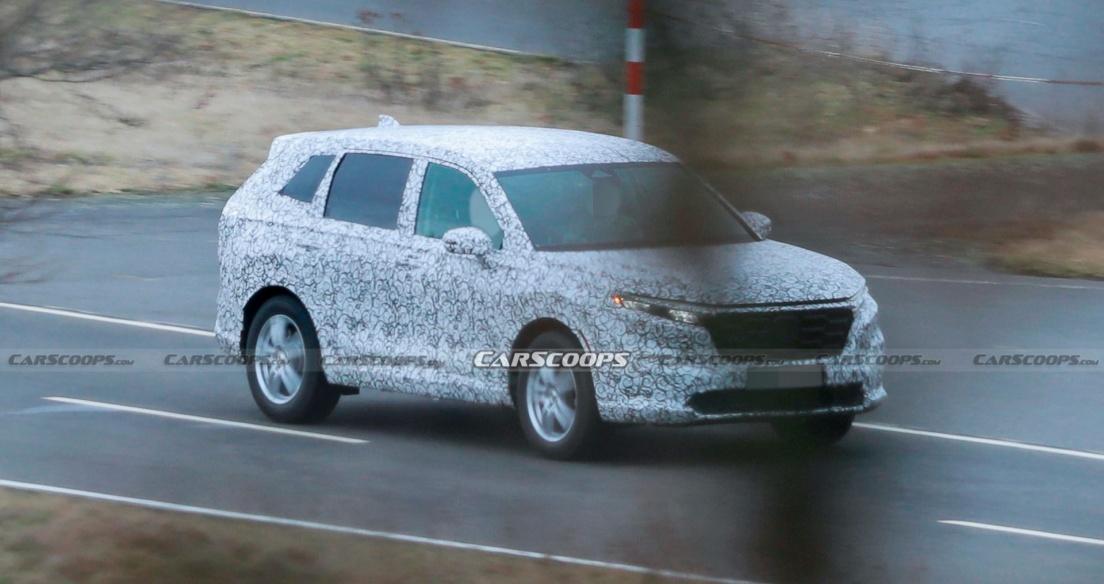 Honda CR-V 2023 thế hệ mới lần đầu lộ diện trên đường thử