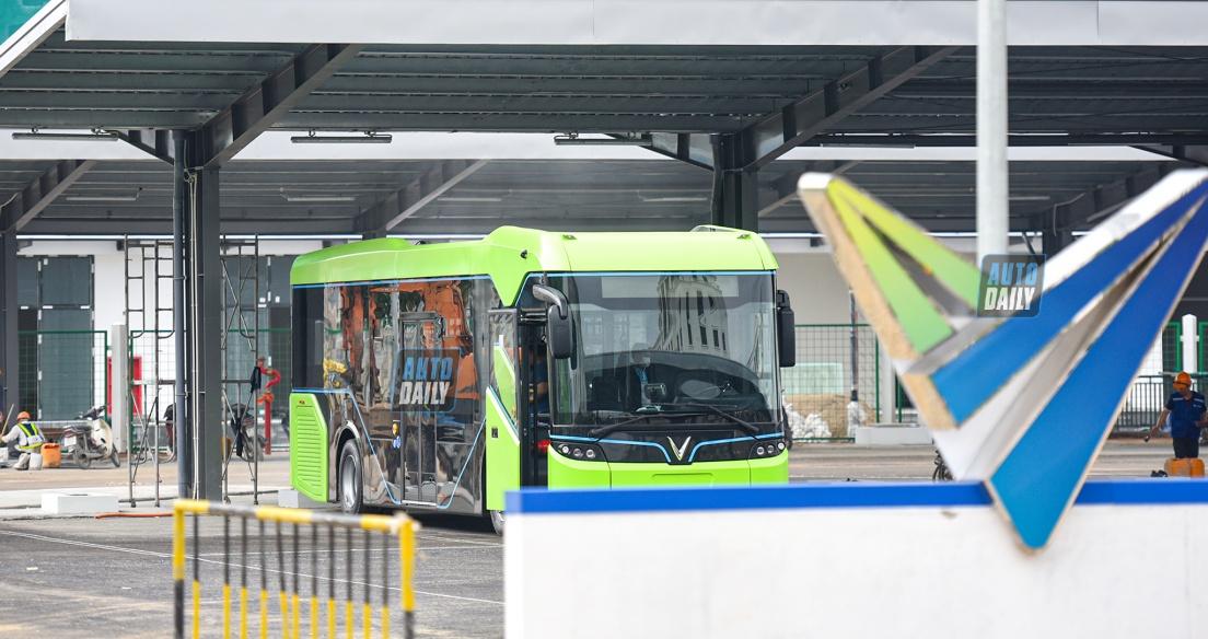 Xe Bus điện của VinFast sắp hoạt động tại Hà Nội, nhà ga chính sắp hoàn thiện