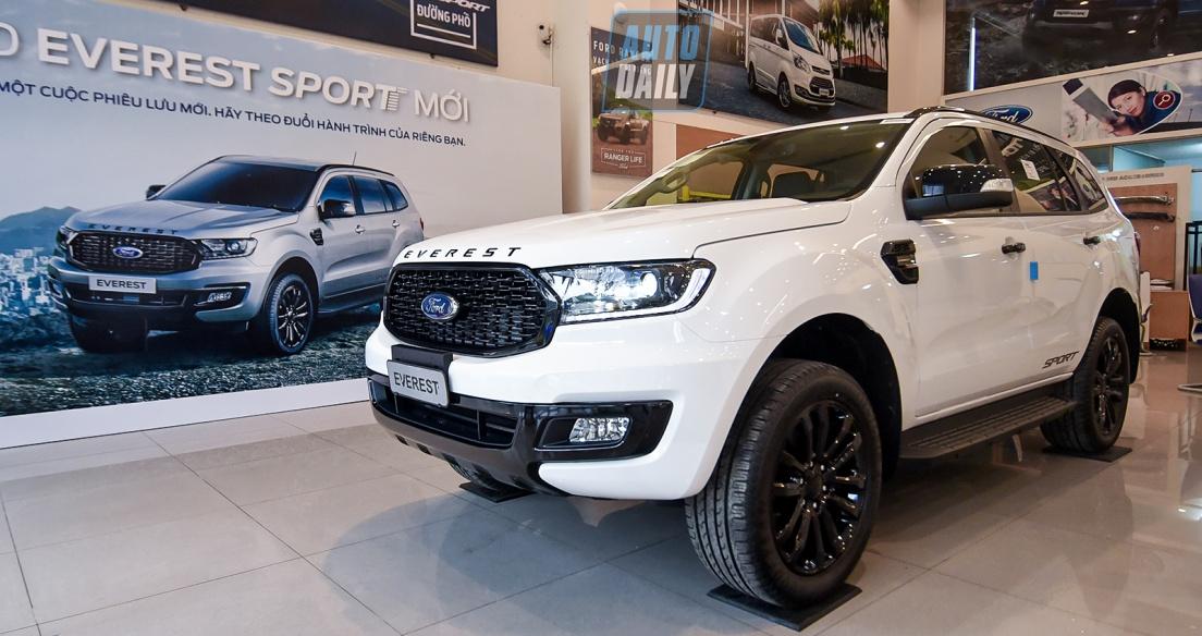 Chi tiết Ford Everest Sport 2021 giá 1,112 tỷ tại đại lý