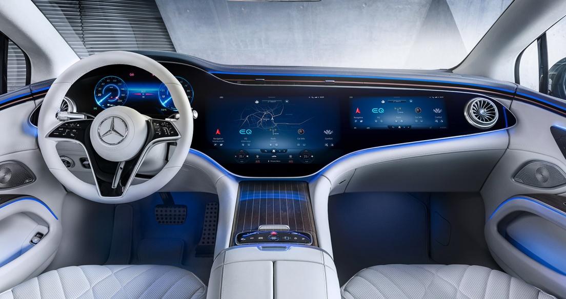 Mercedes-Benz công bố nội thất sedan hạng sang chạy điện EQS, tháng 8 ra mắt
