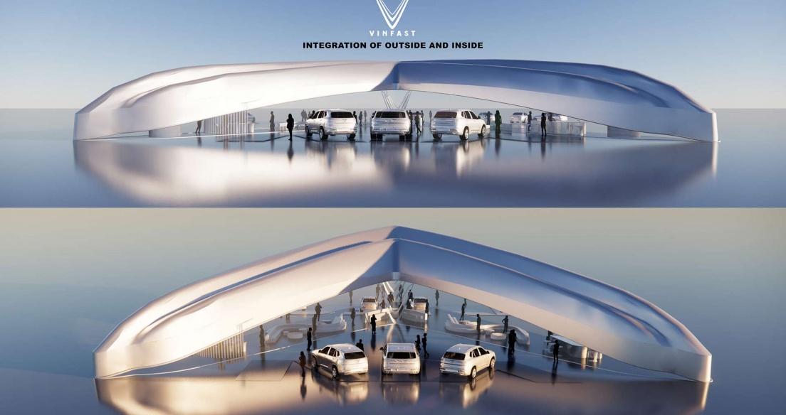 Chiêm ngưỡng thiết kế showroom VinFast toàn cầu giành giải Nhất