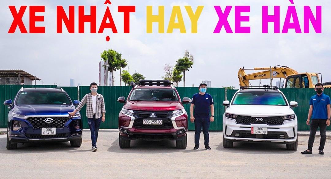 So sánh xe SUV Hàn - Nhật - Nên chọn Santa Fe, Sorento hay Pajero Sport có giá từ 1,2 - 1,4 tỷ
