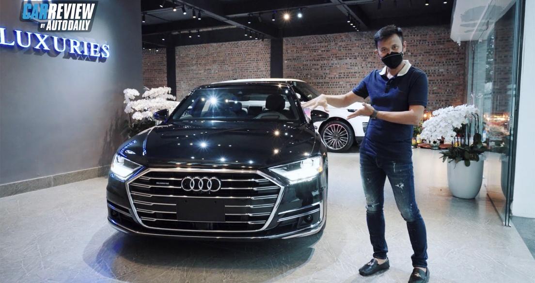 """BÓC TEM """"hàng nóng"""" Audi A8L 2021 vừa về Việt Nam"""