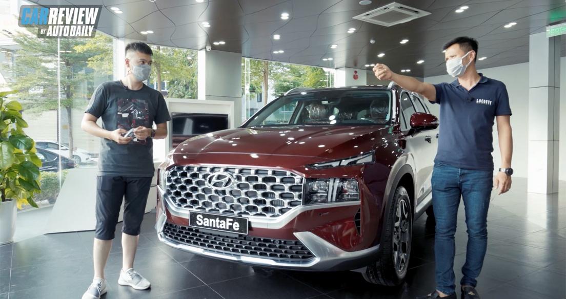 Trải nghiệm nhanh HÀNG NÓNG Hyundai Santa Fe 2021 vừa về đại lý