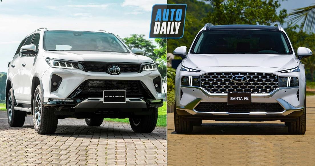 Tầm giá 1,4 tỷ đồng, chọn Hyundai Santa Fe 2021 hay Toyota Fortuner 2021?