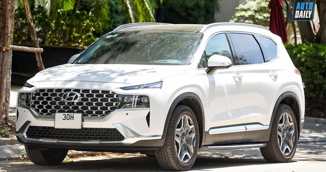 Hyundai Santa Fe 2021 ra biển, bắt đầu xuống phố