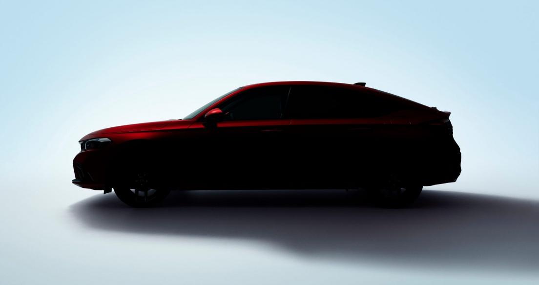 Honda Civic Hatchback 2022 nhá hàng trước ngày ra mắt vào 23/6
