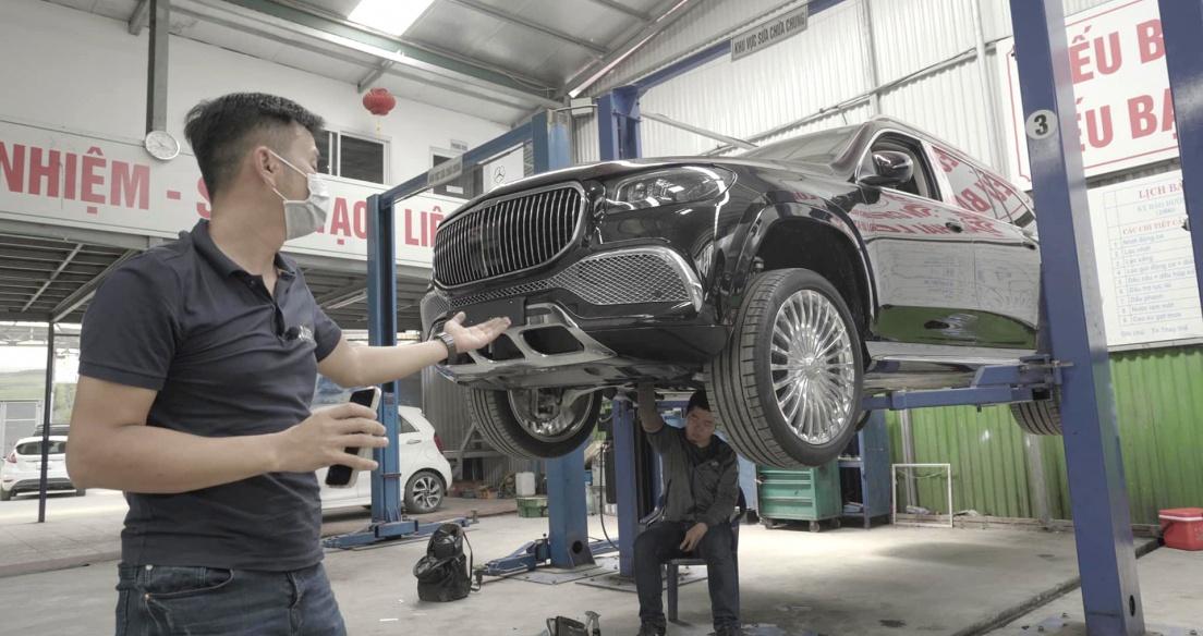 Soi chi tiết gầm Mercedes GLS600 Maybach - Gầm xe triệu đô có gì khác xe bình dân...?