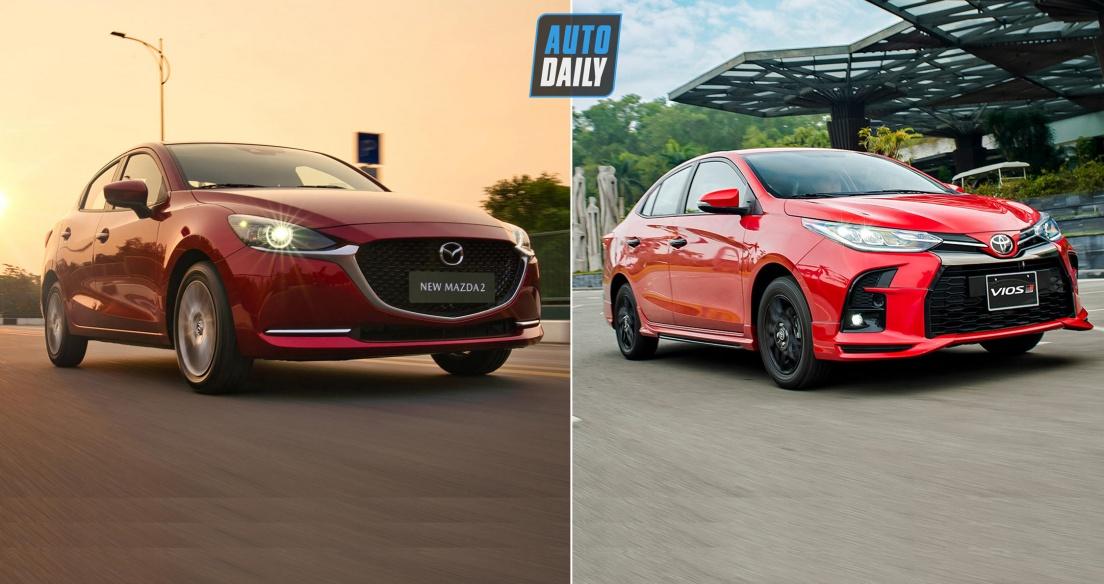 Phân vân giữa Toyota Vios và Mazda2?