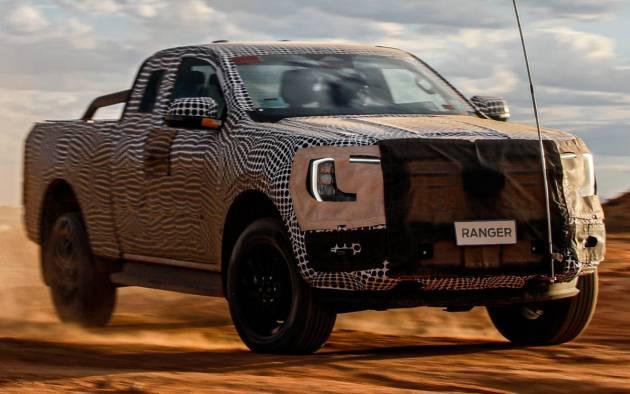 Ford Ranger 2022 thế hệ mới nhá hàng, ra mắt trong năm nay