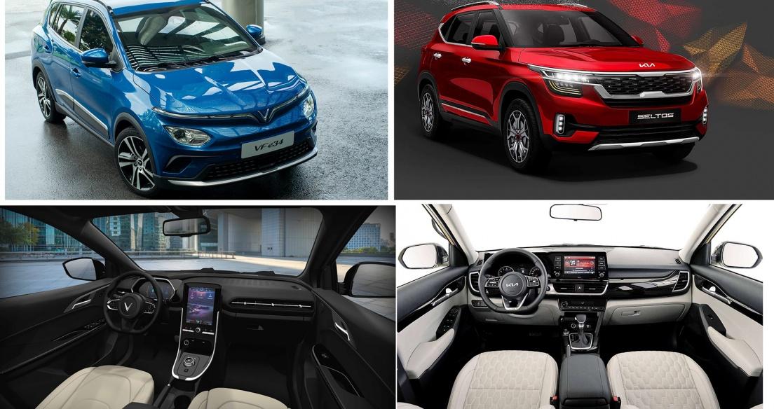 Tầm giá 700 triệu đồng, chọn VinFast VF e34 hay Kia Seltos 1.6 Premium?