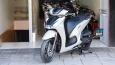 Khám phá chi tiết Honda Sh350i 2021 phiên bản thể thao màu xám xi măng