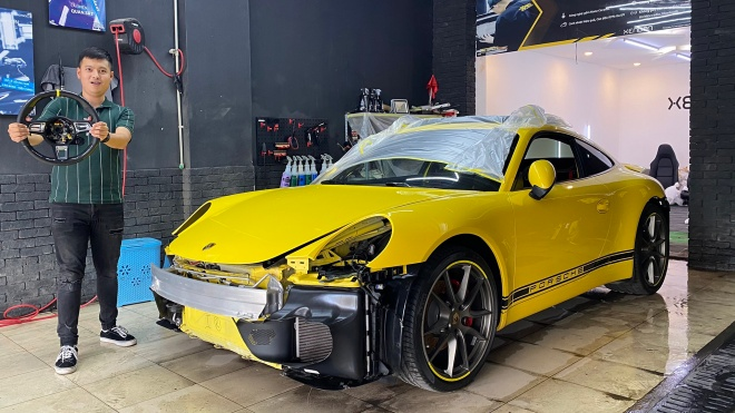 """""""Lột sạch"""" Porsche 911"""