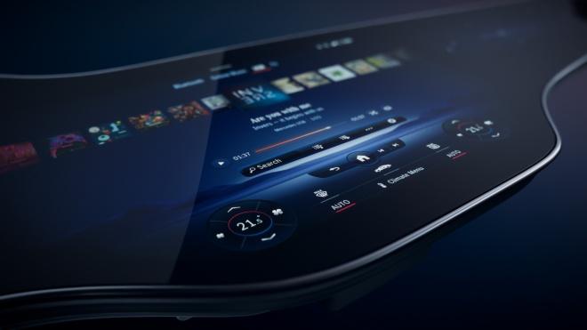 Siêu màn hình cảm ứng Hyperscreen sắp có trên xe Mercedes