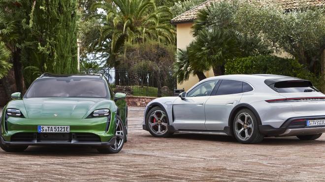 Xe điện Porsche Taycan Cross Turismo 2022 ra mắt, giá 90.900 USD