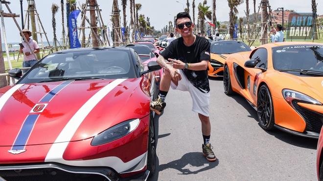Không chạy Pagani, đại gia Minh Nhựa dùng Aston Martin Vantage tham dự VietRally