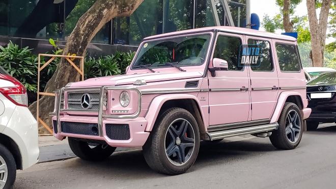 Mercedes G65 AMG độc nhất Việt Nam màu hồng cá tính tại Hà Nội