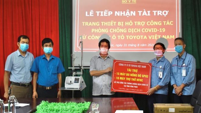 Toyota Việt Nam tiếp tục ủng hộ trang thiết bị y tế cho tỉnh Vĩnh Phúc