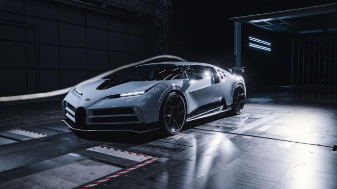 Siêu xe triệu đô Bugatti Centodieci hoàn thành thử nghiệm đường hầm gió