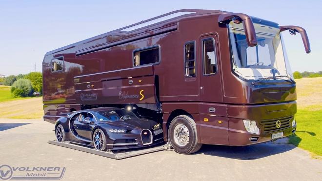'Biệt thự di động' giá 2,4 triệu USD đủ chỗ cho 1 chiếc Bugatti