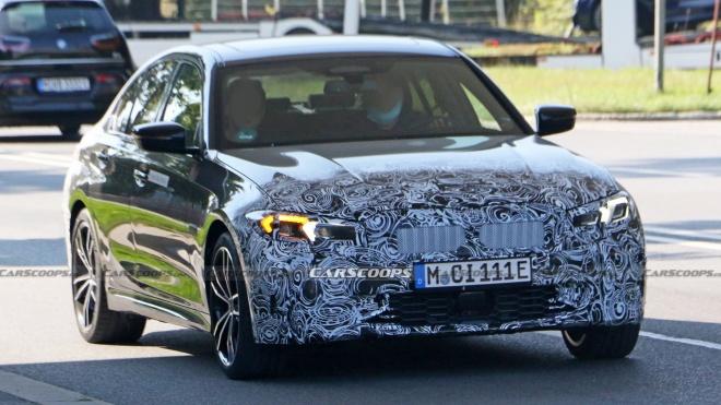BMW 3-Series 2023 được thử nghiệm với đèn pha mới