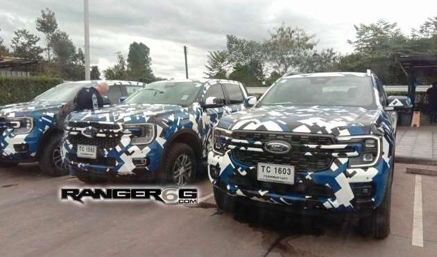 Ford Ranger 2022 tiếp tục lộ diện với 3 phiên bản: XLT, FX4, Wildtrak