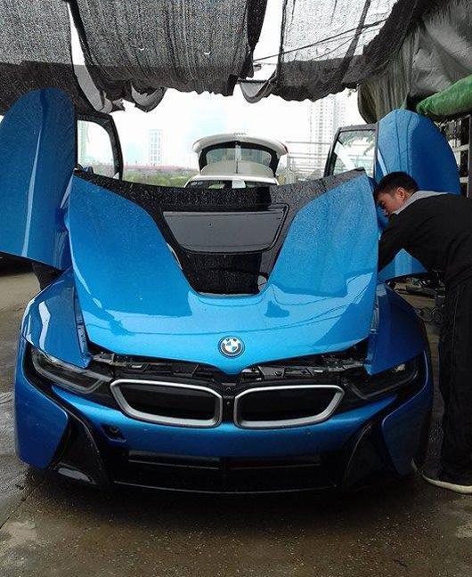 BMW I8 Xanh Ngọc độc Nhất Việt Nam Tái Xuất Sau Tai Nạn