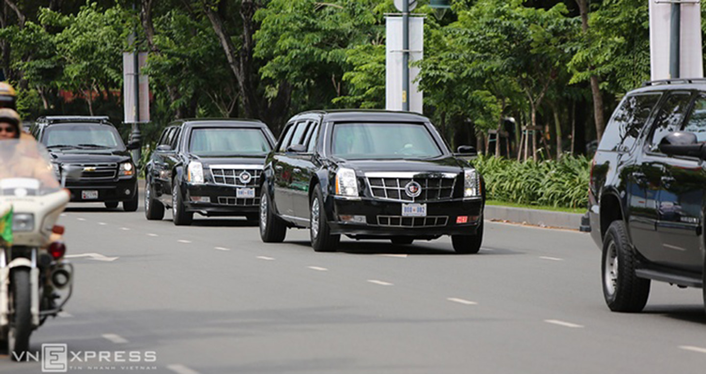 Limousine chở Tổng thống Mỹ Xe Limousine chở Tổng thống Mỹ Obama đã về tới TP.HCM limousine the beast 20 6