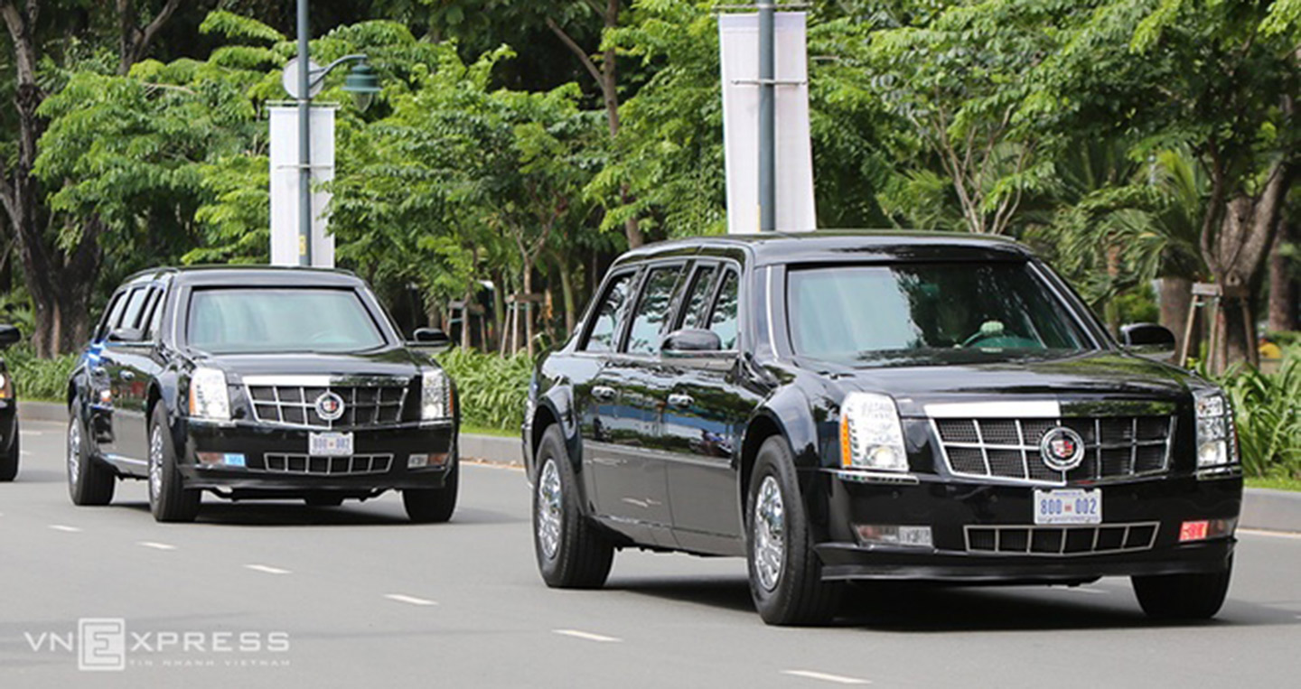 Limousine chở Tổng thống Mỹ Xe Limousine chở Tổng thống Mỹ Obama đã về tới TP.HCM limousine the beast 20 7