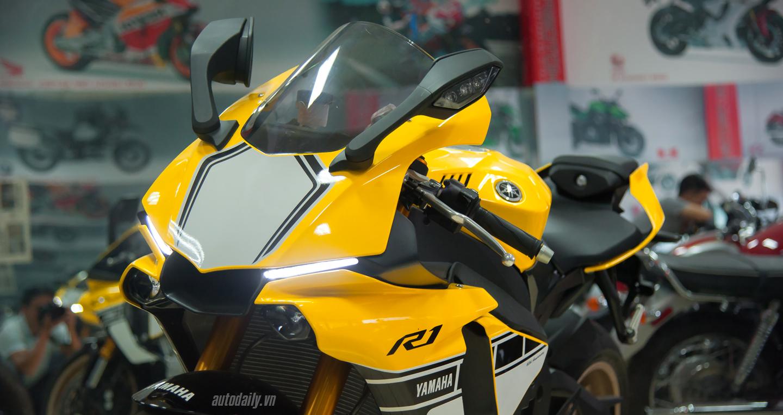 Yamaha YZF-R1 bản kỉ niệm 60 năm đã có mặt tại Hà Nội với bản màu vàng (7).JPG
