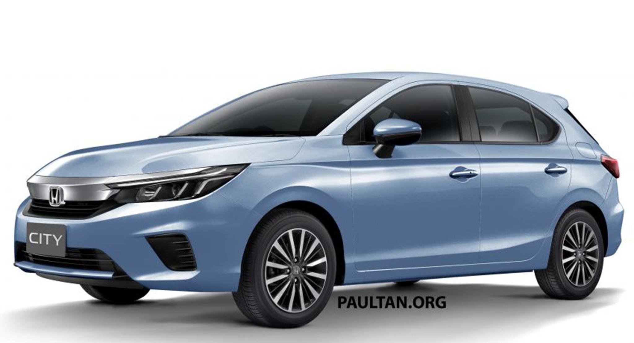 Xem trước thiết kế ngoại thất của Honda City hatchback 2021