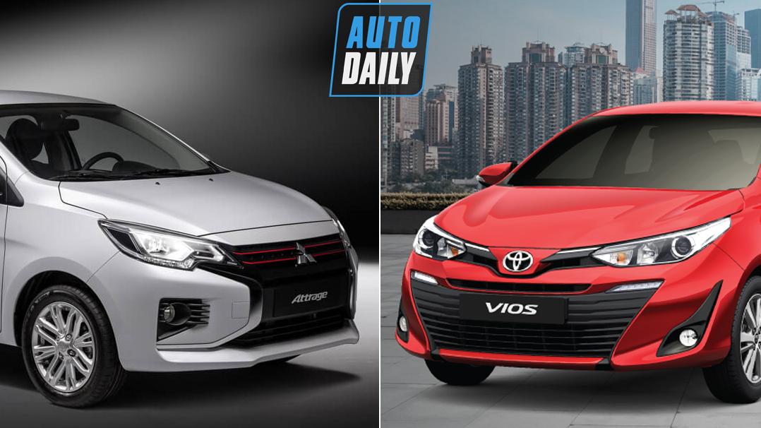 So sánh Mitsubishi Attrage 2020 và Toyota Vios 2020 – Rẻ hÆ¡n cả trăm triệu có soán được ngôi?
