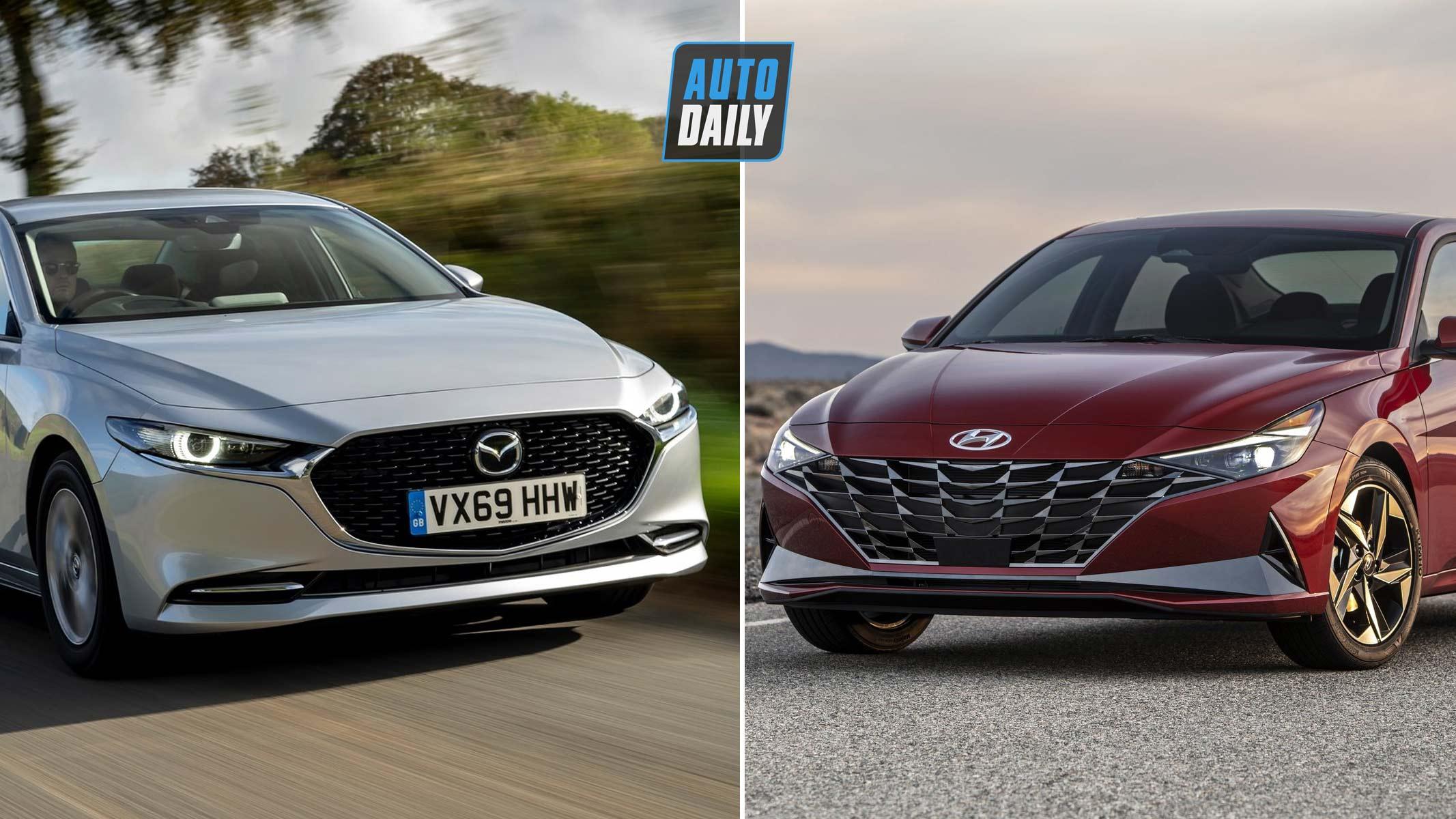 So sánh Mazda 3 2020 và Hyundai Elantra 2021 – Cuộc chiến xe Nhật – Hàn