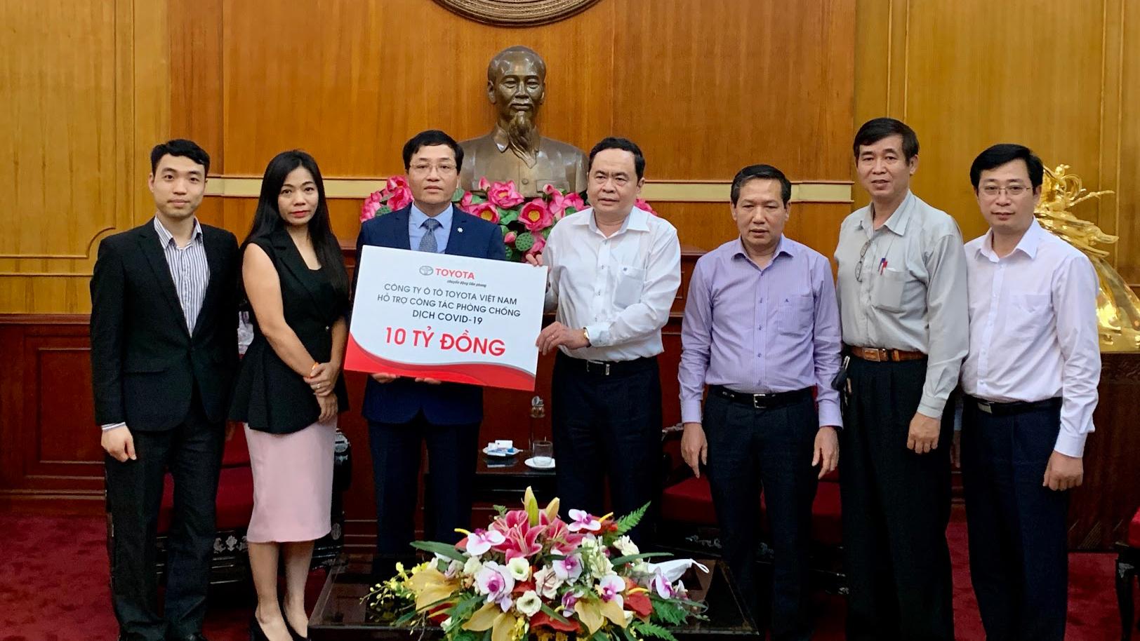 Toyota Việt Nam ủng hộ 10 tỷ đồng chống dịch Covid-19