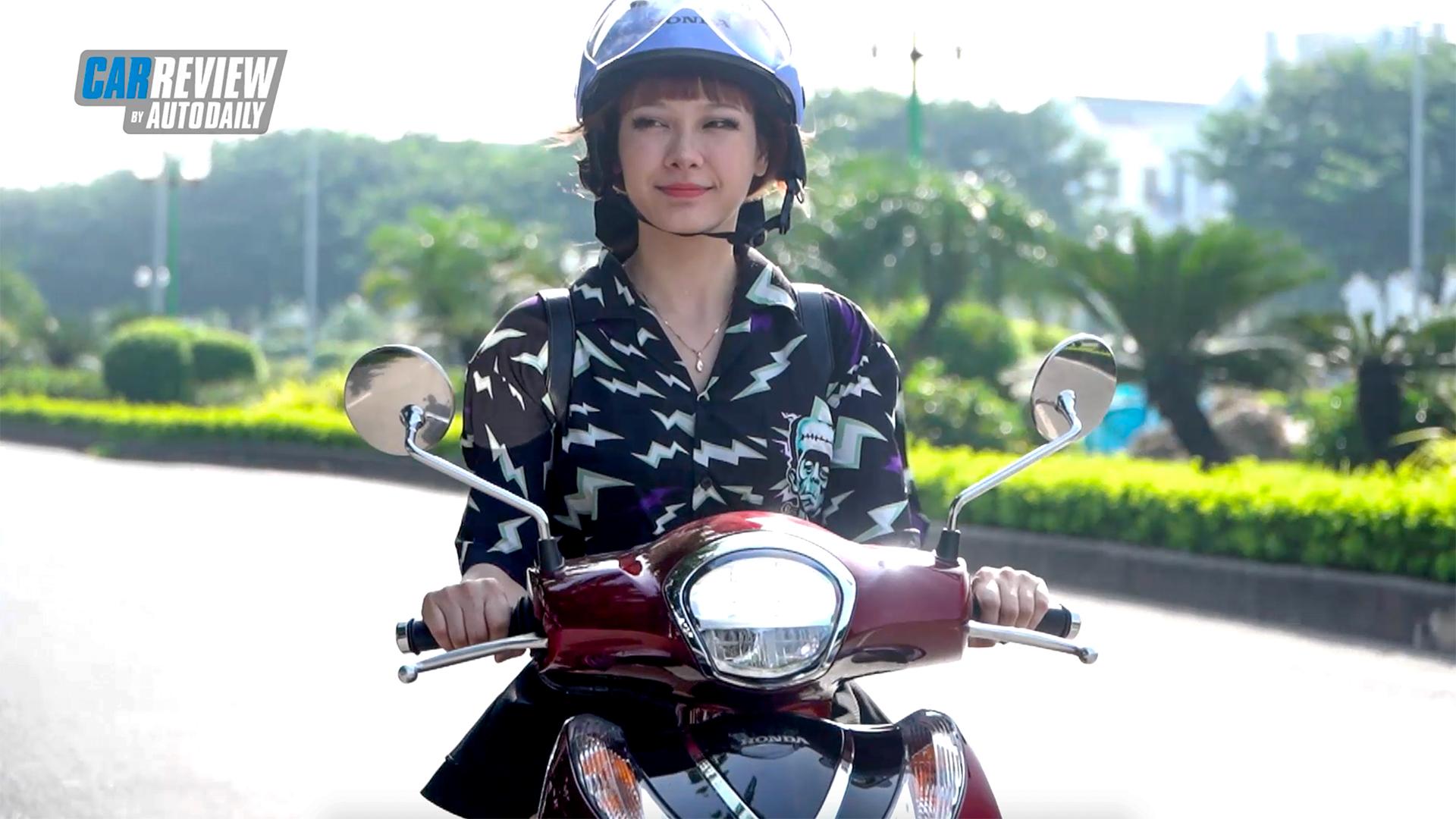 Cảm nhận của phái đẹp khi trải nghiệm Honda Sh mode 2021
