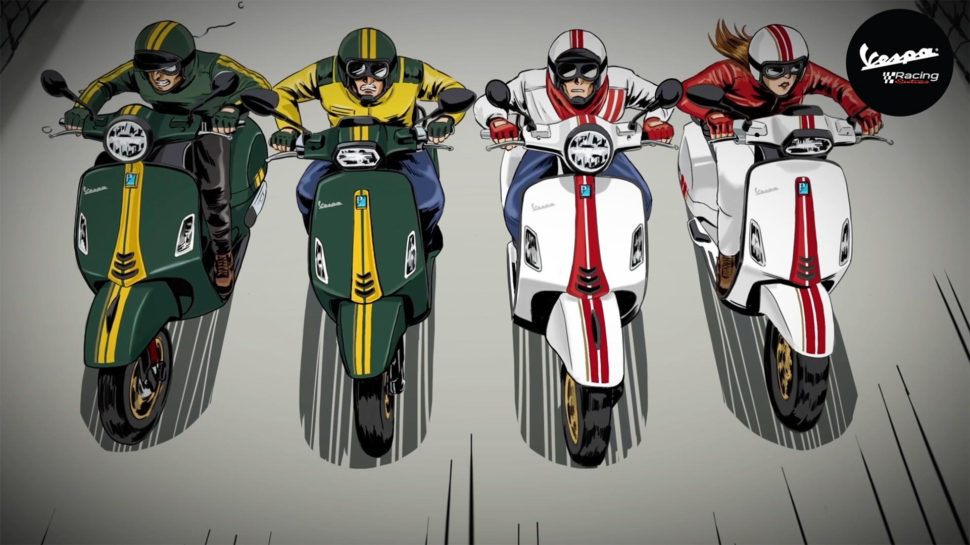 Vespa Racing Sixties - Trở lại kỷ nguyên huyền thoại