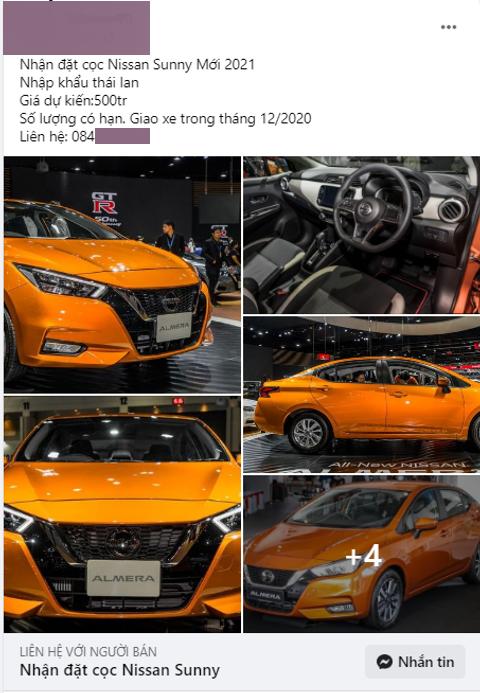 Đại lý nhận đặt cọc Nissan Sunny 2021, giao xe trong tháng 12