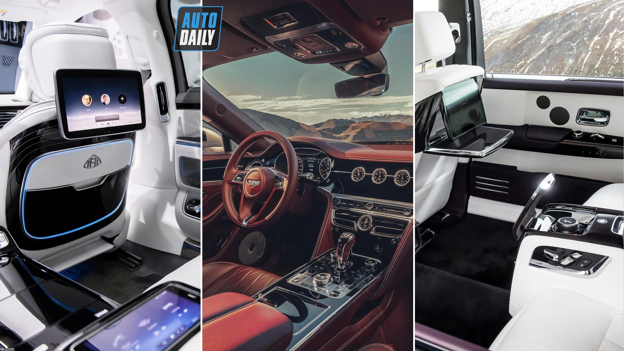 2021 Bentley Flying Spur Vs 2021 Maybach S class Vs New Rolls Royce Phantom INTERIOR