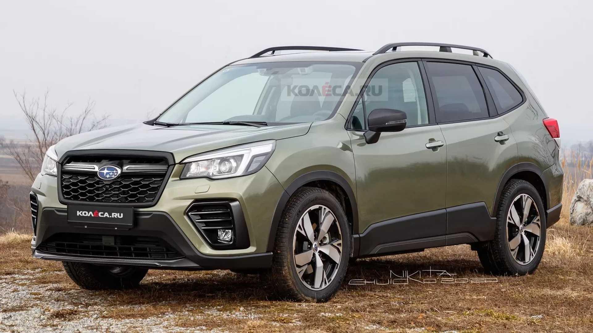 Xem trước thiết kế Subaru Forester 2022