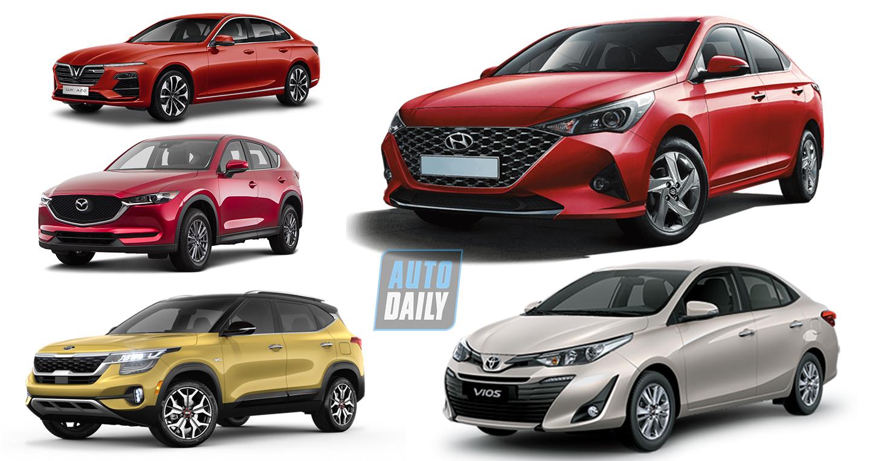 5 thương hiệu ôtô bán nhiều xe nhất tại Việt Nam năm 2020
