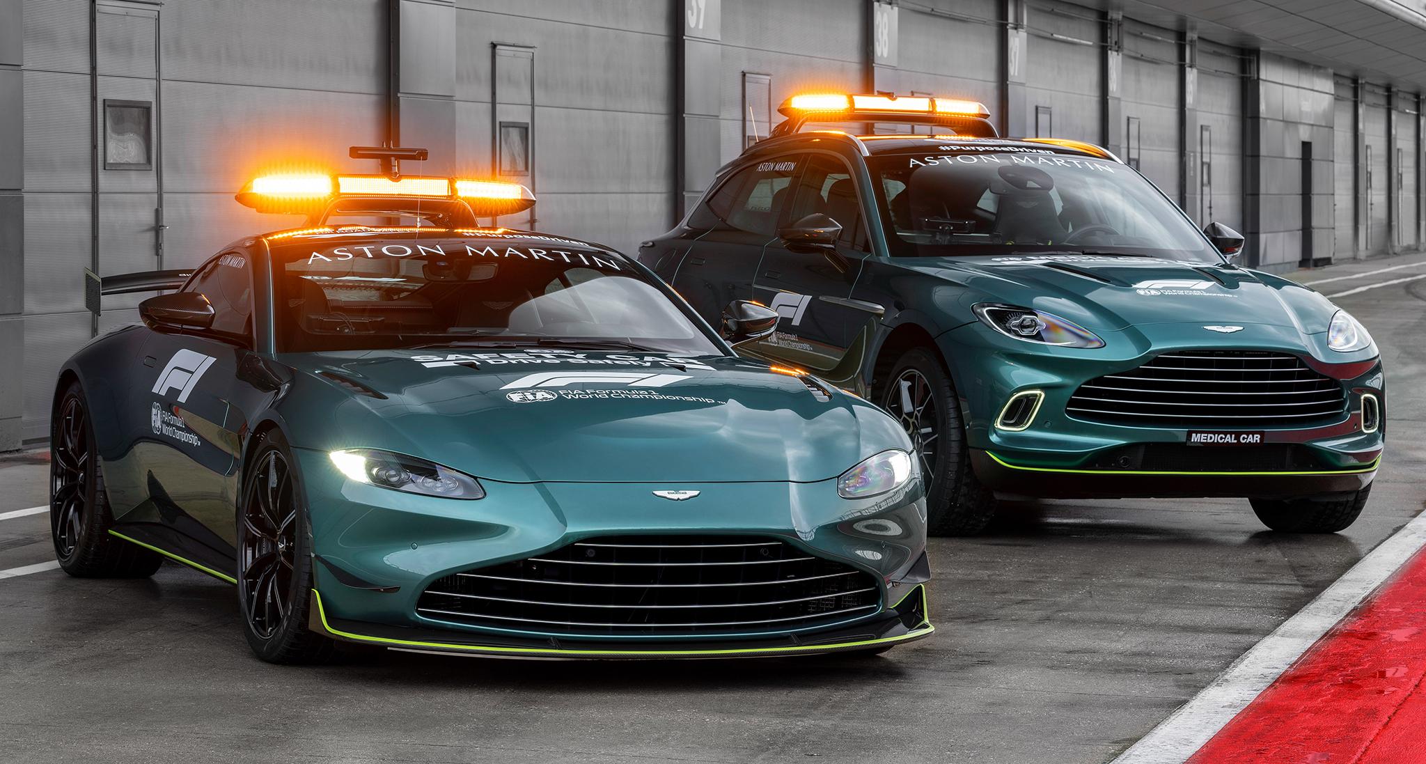 Aston Martin Vantage và DBX là xe an toàn và y tế cho mùa giải F1 2021