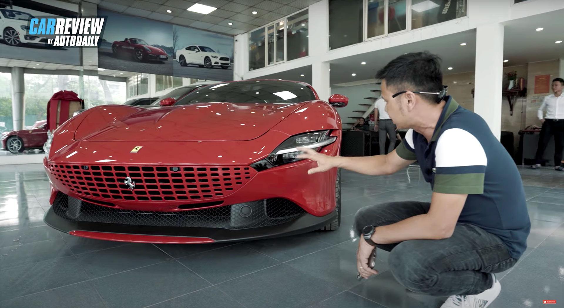 Bóc tem siêu phẩm Ferrari Roma đỏ Rosso triệu đô mới về Việt Nam