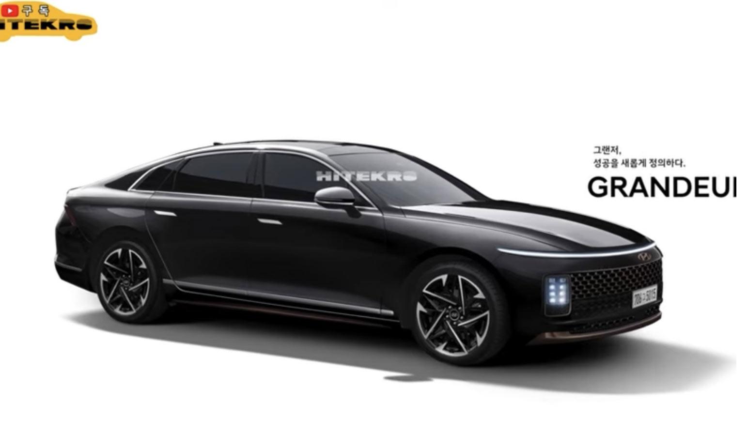 Ảnh phác họa thiết kế của Hyundai Grandeur thế hệ tiếp theo